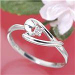 ピンクダイヤリング 指輪 アレンジハートリング 11号