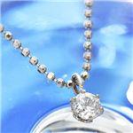 K18ホワイトゴールド0.1ct ダイヤモンドペンダント/ネックレス