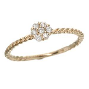 K14ピンクゴールド ダイヤリング 指輪