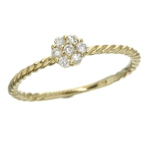 K14イエローゴールド ダイヤリング 指輪
