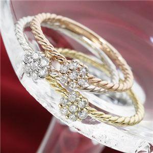 K14イエローゴールド ダイヤリング 指輪 13号 h02