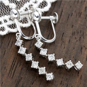 18金ホワイトゴールド(K18WG) ダイヤモンドイヤリング 0.6ct