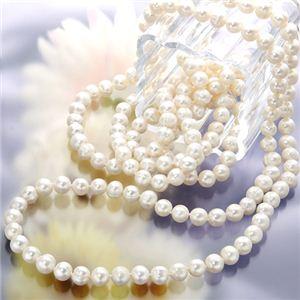 160cm ロング池蝶真珠 パールネックレス
