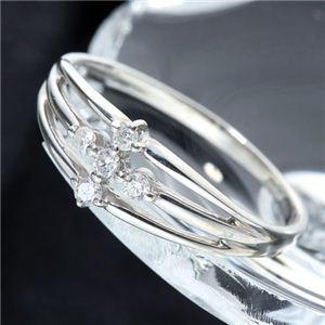 0.1ctダイヤモンドサザンクロスシルバーリング 9号