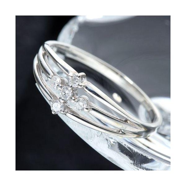 0.1ctダイヤリング 指輪 サザンクロスシルバーリング 9号f00