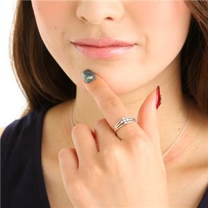 0.1ctダイヤリング 指輪 サザンクロスシルバーリング 9号 h02