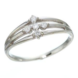 0.1ctダイヤリング 指輪 サザンクロスシルバーリング 9号 h03