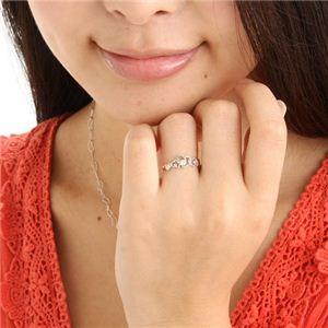 ハート透かし合計0.08ctダイヤリング 指輪 19号