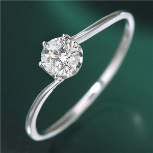 プラチナ0.3ct ダイヤリング 指輪 15号 - 拡大画像