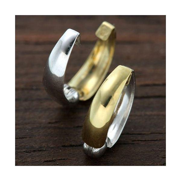 K14ホワイトゴールド/イエローゴールド リバーシブルピアリングf00