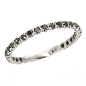 0.5ctブラックダイヤリング 指輪  エタニティリング 11号