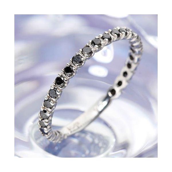 0.5ctブラックダイヤリング 指輪  エタニティリング 17号f00