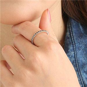 0.5ctブラックダイヤリング 指輪  エタニティリング 17号 h02