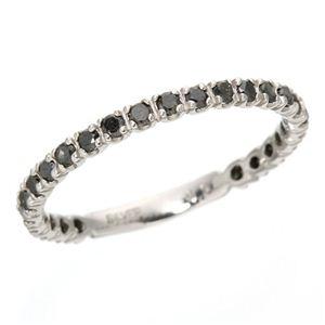 0.5ctブラックダイヤリング 指輪  エタニティリング 17号 h03