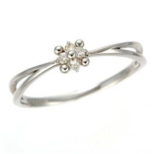 WGダイヤリング 指輪 フラワーリング 17号