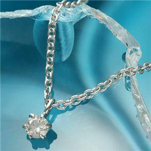 純プラチナ台 0.1ctダイヤモンドペンダント/ネックレス - 拡大画像