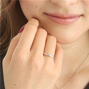 0.05ctピンクダイヤリング 指輪 ウェーブ 17号 h02