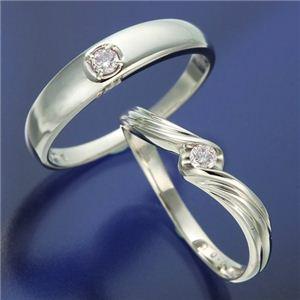 0.05ctピンクダイヤリング 指輪 ウェーブ 17号 h03