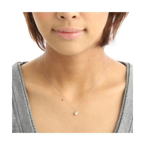 純プラチナ 0.5ct ダイヤモンドペンダント/ネックレス(鑑別書付き)1