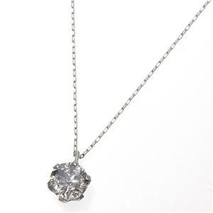 純プラチナ 0.5ct ダイヤモンドペンダント/ネックレス(鑑別書付き) h03