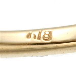 K18YG(イエローゴールド) ピンクトルマリンリング 指輪 7号