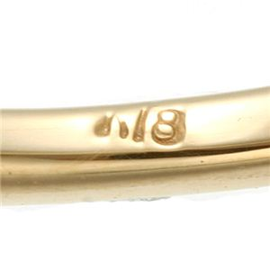 K18YG(イエローゴールド) ピンクトルマリンリング 指輪 17号
