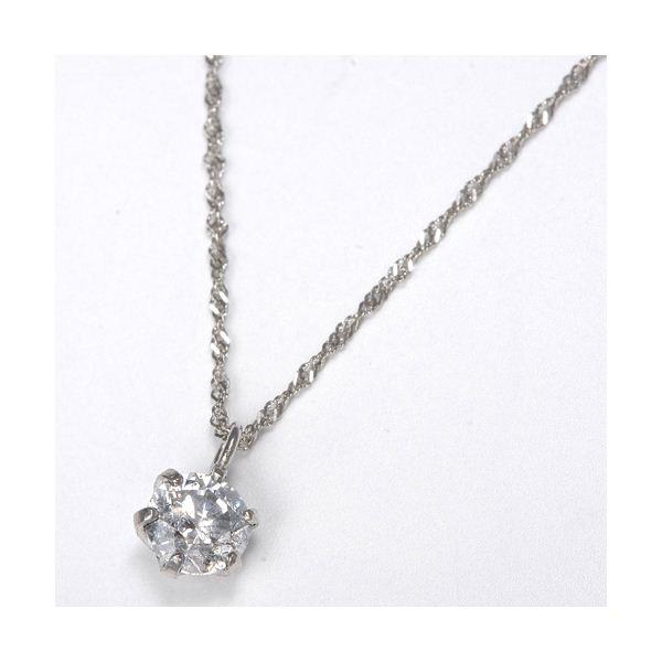 純プラチナ 0.3ctダイヤモンドペンダント/ネックレスのポイント2