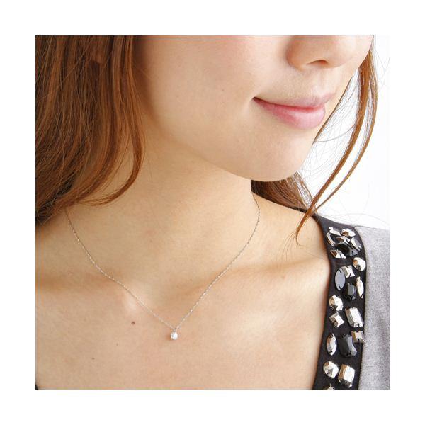 純プラチナ 0.3ctダイヤモンドペンダント/ネックレスのポイント1