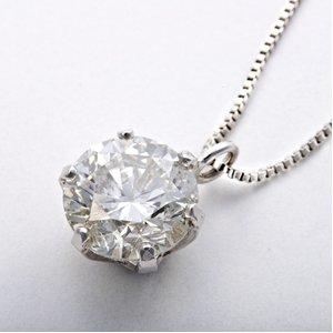 純プラチナ 0.7ctダイヤモンドペンダント/ネックレス(鑑定書付)
