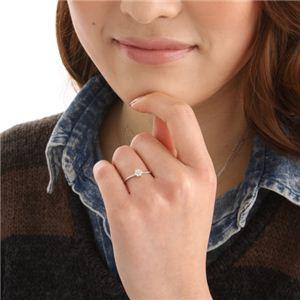 K14WG(ホワイトゴールド) ダイヤリング 指輪  セブンスターリング 15号 h02