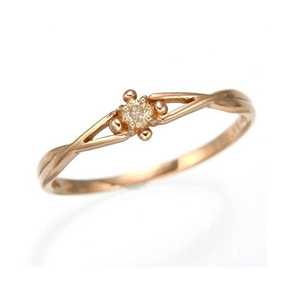 K10 ピンクゴールド ダイヤリング 指輪 スプリングリング 184273 21号f00