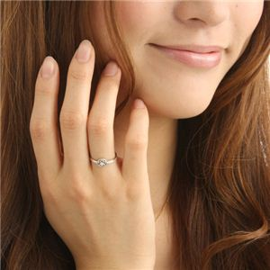 K10 ホワイトゴールド ダイヤリング 指輪 スプリングリング 184285 17号 h02