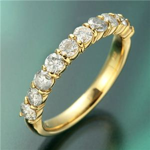 K18YG(イエローゴールド) ダイヤモンド1.0ctエタニティリング 11号