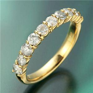 K18YG(イエローゴールド) ダイヤリング 指輪 1.0ctエタニティリング 21号 - 拡大画像