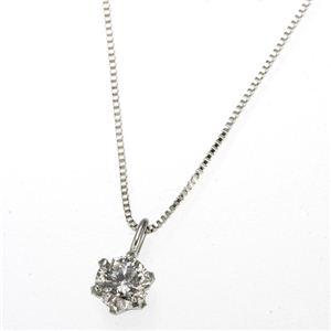 プラチナPt0.1ctダイヤモンドペンダント/ネックレス