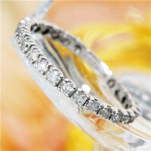 0.50ctダイヤモンドエタニティリング ホワイトゴールドカラー 15号 - 拡大画像