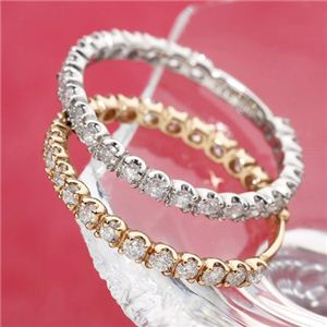 【受注生産発送】0.50ctダイヤモンドエタニティリング ピンクゴールド/ホワイトゴールド