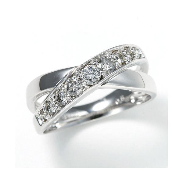 0.5ct ダブルクロスダイヤリング 指輪 エタニティリング 13号f00