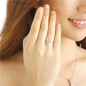 0.5ct ダブルクロスダイヤリング 指輪 エタニティリング 13号 h02