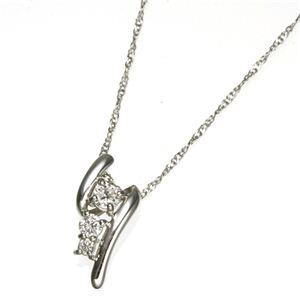 K18WG(ホワイトゴールド)ダイヤモンドデザインペンダント