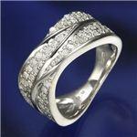 0.6ctダイヤリング 指輪  ワイドパヴェリング 21号