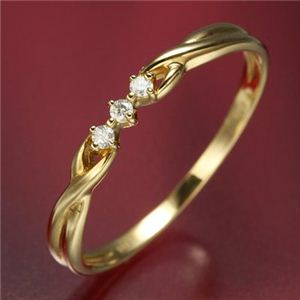 K18ダイヤリング 指輪  デザインリング 13号 - 拡大画像