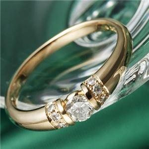 K18PG/0.28ctダイヤリング 指輪