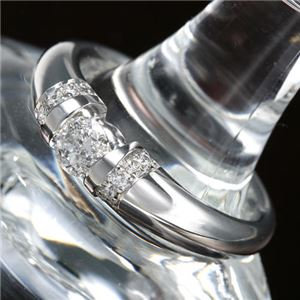 プラチナPt900 /0.28ctダイヤリング 指輪 11号 - 拡大画像