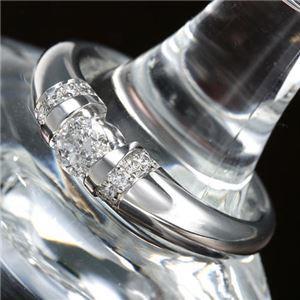 プラチナPt900 /0.28ctダイヤリング 指輪 17号 - 拡大画像