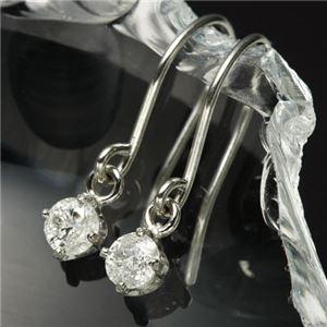 PT0.1ctダイヤモンドピアス フックピアス プラチナ