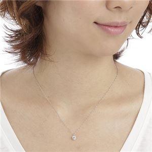 純プラチナ0.6ctダイヤモンドペンダント/ネックレス(鑑別書付き) h03