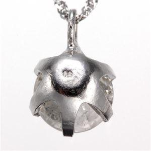 純プラチナ0.6ctダイヤモンドペンダント/ネックレス(鑑別書付き) f04