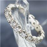プラチナPt900 /1ctフルエタニティダイヤリング 指輪 ペアリング 19号