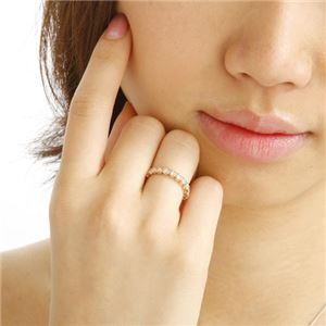 K18PG ダイヤリング 指輪 1.0ct フルエタニティリング 7号